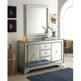"Arron 59"" Mirrored Cabinet with Mirror"