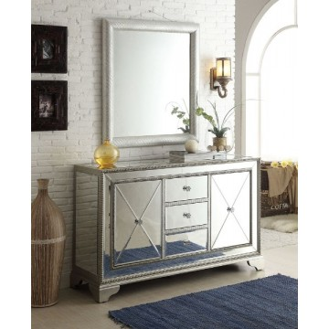 """Arron 59"""" Mirrored Cabinet with Mirror"""