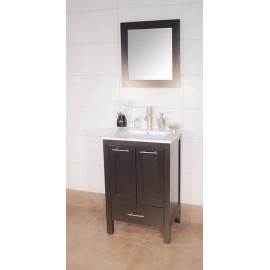 "Asti 24"" Espresso, Ceramic Top w/Solid Doors"