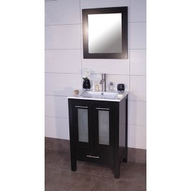 "Asti 24"" Espresso, Ceramic Top w/Glass Doors"