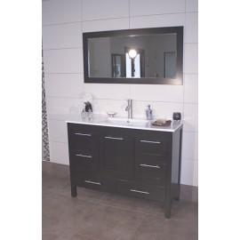"""Positano 48"""" Espresso, Ceramic Top w/Integrated Ceramic Sink, Solid Doors"""