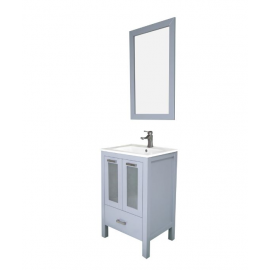"Asti 24"" Gray, Ceramic Top w/Glass Doors"