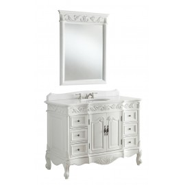 "Beckham 42"" Antique White w/Mirror"