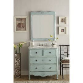 Daleville Vintage Light Blue Mirror