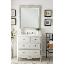 Daleville Vintage Antique White Mirror