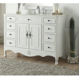 "Daleville 46.5"" Distressed Antique White"