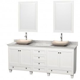 "Acclaim White 80"" Double Vessel"