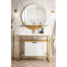 Boston Radiant Gold w/Cabinet 39.5""