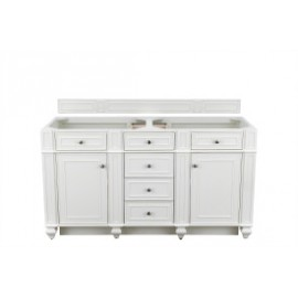 "Bristol 60"" Bright White Double (Vanity Only Pricing)"