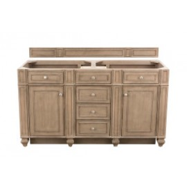 "Bristol 60"" Whitewashed Walnut Double (Vanity Only Pricing)"