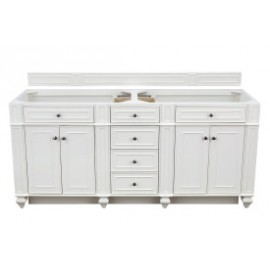 "Bristol 72"" Bright White Double (Vanity Only Pricing)"