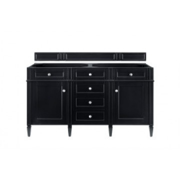 "Brittany 60"" Black Onyx Double (Vanity Only Pricing)"