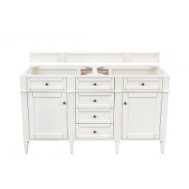 "Brittany 60"" Bright White Double (Vanity Only Pricing)"