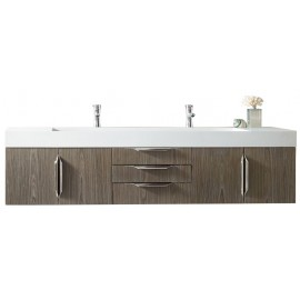 "Mercer Island Ash Grey 72"" Double (Vanity Only Pricing)"