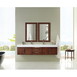 "Mercer Island Coffee Oak 72"" Double (Vanity Only Pricing)"