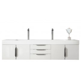 "Mercer Island Glossy White 72"" Double (Vanity Only Pricing)"