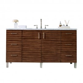 "Metropolitan American Walnut 60"" Single (Vanity Only Pricing)"