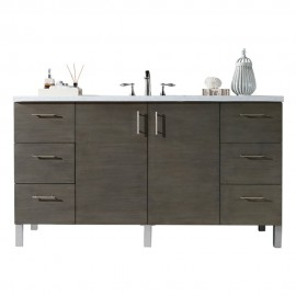 "Metropolitan Silver Oak 60"" Single (Vanity Only Pricing)"