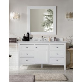 "Palisades 60"" Bright White Single (Vanity Only Pricing)"