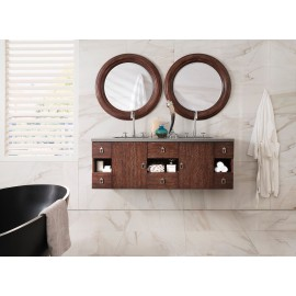 "Sonoma Coffee Oak 60"" Double (Vanity Only Pricing)"